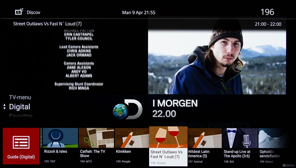 Sony A8F menu