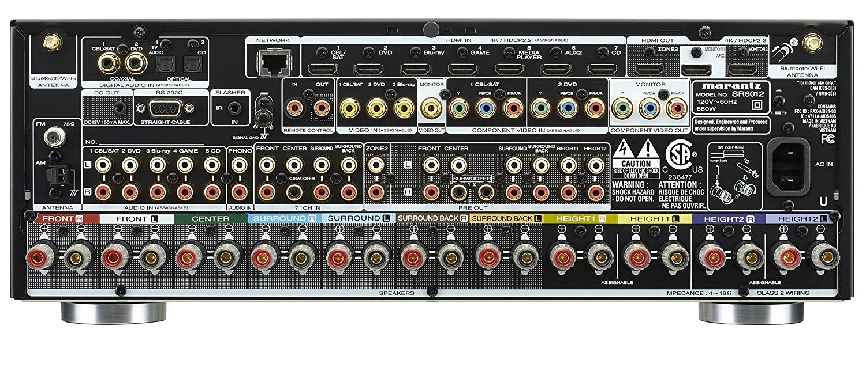 Marantz SR6012 ports