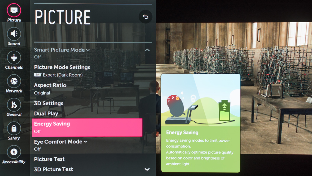 LG OLED55C7P settings
