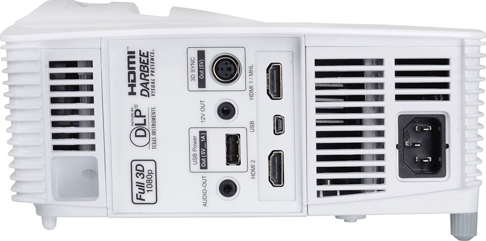 Optoma GT1080Darbee ports