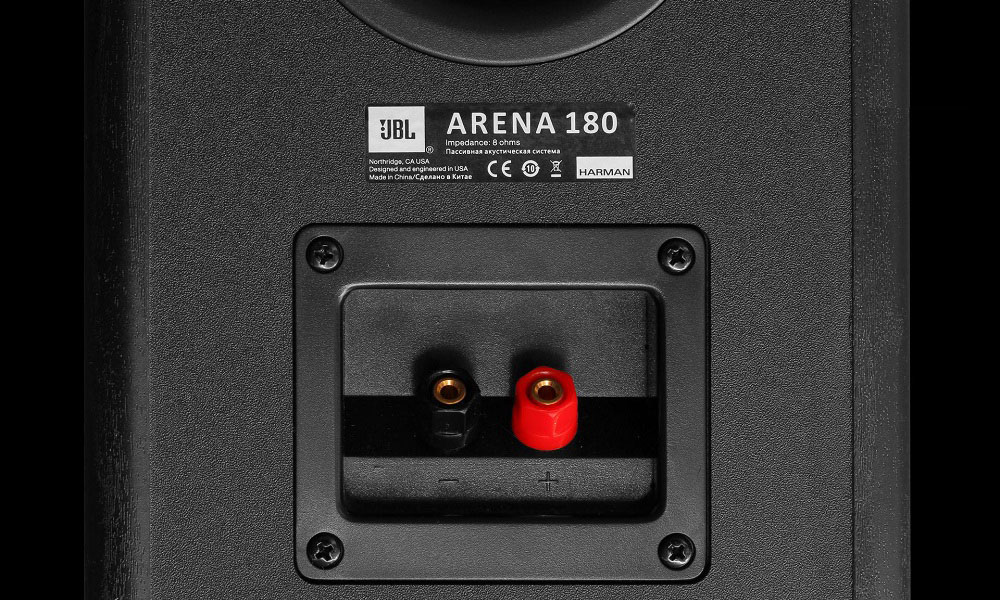 JBL ARENA 180 speaker connectors