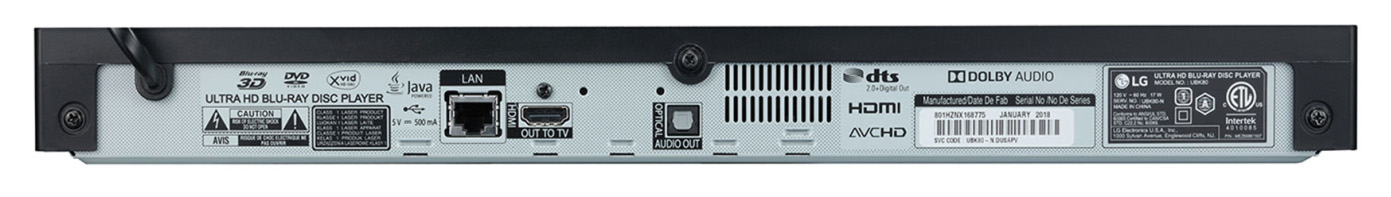 LG UBK80 ports