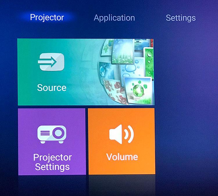 Optoma UHD51A menu