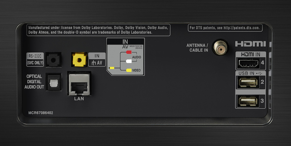 LG E8 OLED connections