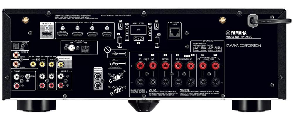 Yamaha RX-A680 back