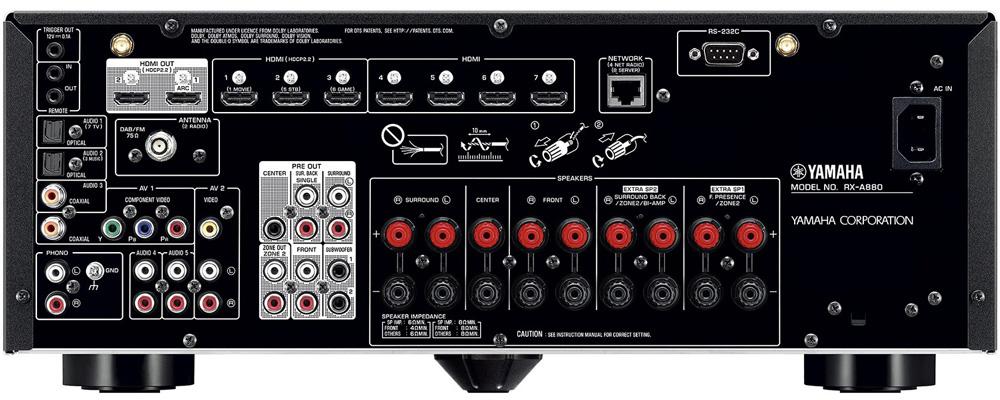 Yamaha RX-A880 back