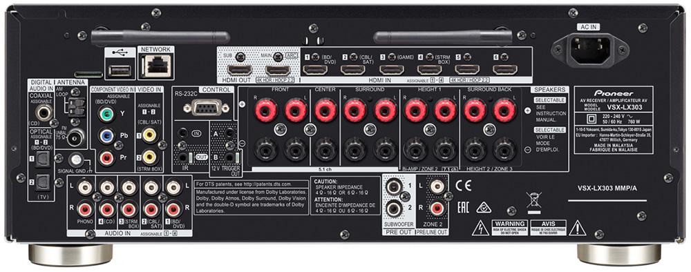 Pioneer VSX-LX303 ports