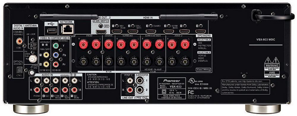 Pioneer VSX-933 ports