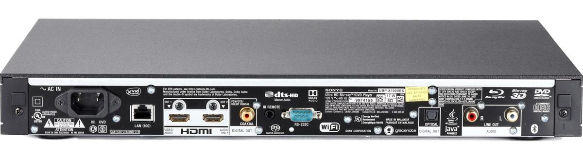 Sony UBP-X1000ES ports
