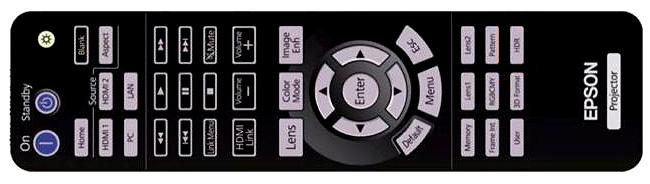 EPSON 5050UB remote