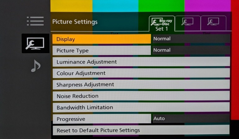 Panasonic DP-UB9000 settings