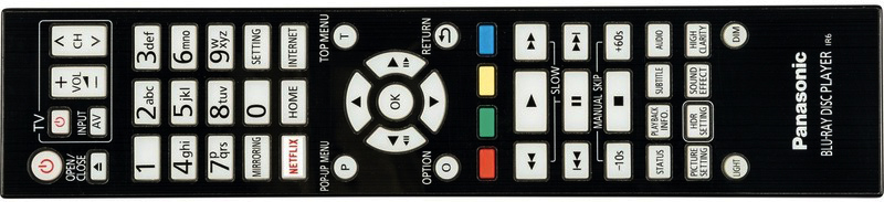 Panasonic DP-UB9000 remote