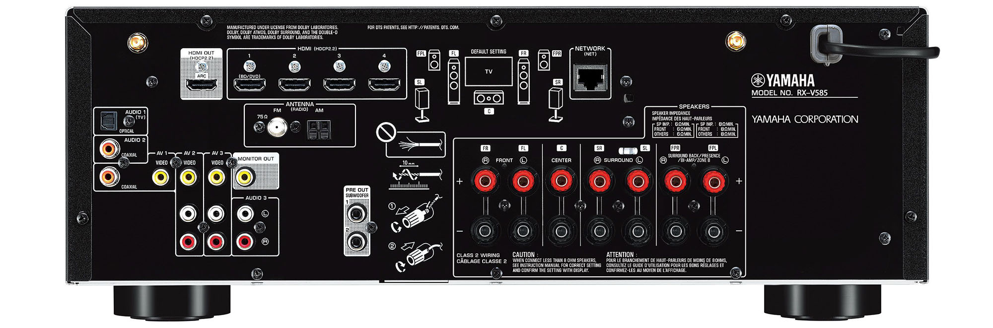 Yamaha RX-V585 Review (7.2 CH 4K AV Receiver)
